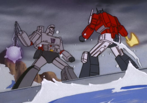 Optimus Prime Battles Megatron